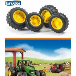 Zabawka koła bliźniacze żółte JD do modeli-02
