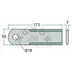 Nóż ścinacza Claas ruchomy /Rasspe/