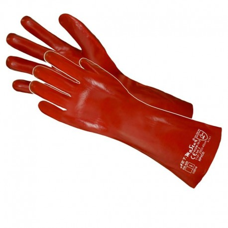 Rękawice PCV długie