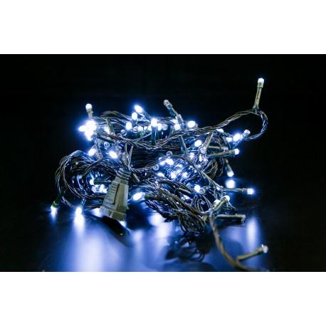 Lampki choinkowe LED 100 żarówek białe