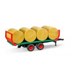 Zabawka przyczepa z 8 balotami