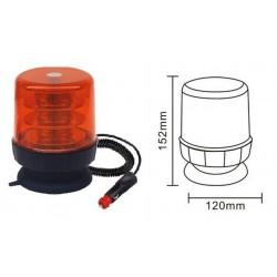 Lampa ostrzeg-kogut LED 12/24V magnes 120x150 R65