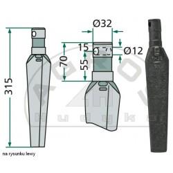 Ząb brony aktywnej RH-32-L lw.