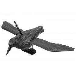 Figurka kruk do odstraszania ptaków w locie