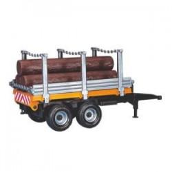 Zabawka przyczepa do transportu drewna