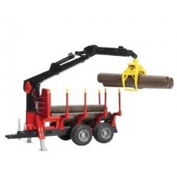 Zabawka przyczepa z HDS z balami drewna