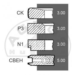Kpl. pierścieni tł. MWM fi-95mm. 4-szt