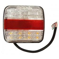 Lampa tylna zespolona LED 12/24V 105*95 biała
