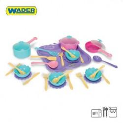 Zabawka zestaw obiadowy 31-el /Wader/