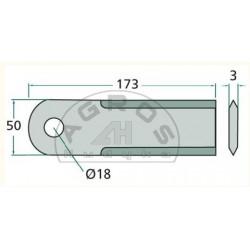 Nóż ścinacza Claas ruchomy /org/