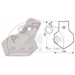 Gęsiostopka 100 mm.1-otw. AG415 /Grudziądz/