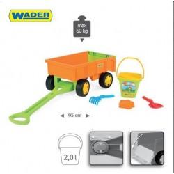 Zabawka wózek z zestawem do piasku /Wader/