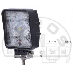 Lampa robocza LED 9-32V 15W 1100lm kwadratowa XXX