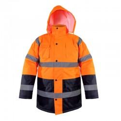 Kurtka ostrzegawcza zimowa pomarańczowa M Lahti