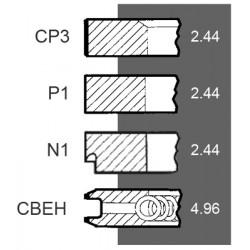 Kpl. pierścieni tł. Iveco fi-100 4-p