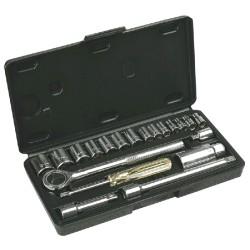 "Klucze nasadowe 1/4"", 3/8"" 20cz. Top Tools"
