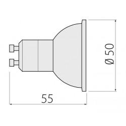 Żarówka LED GU10 4W 230V biała ciepła GTV