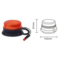 Lampa ostrzeg-kogut LED 12/24V magnes 140x90mm R65