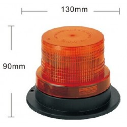 Lampa ostrzeg-kogut LED 12/24V magnes mała R65