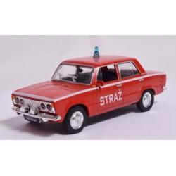 Zabawka samochód Fiat 125p STRAŻ /PRL/