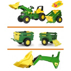 Zabawka traktor na pedała John Deere +ładow +przyc