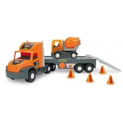 Zabawka Super Tech Truck laweta z betoniarką Wader