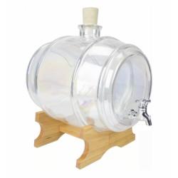 Beczułka szklana 3,8l. z kranikiem na podstawie