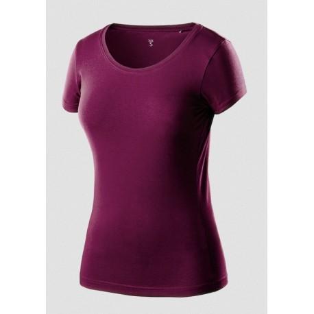 Koszulka t-shirt damska L bordowa NEO