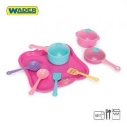 Zabawka taca z garnkami 11-el /Wader/