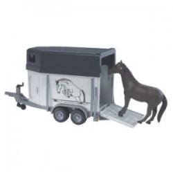 Zabawka przyczepa do przewozu koni