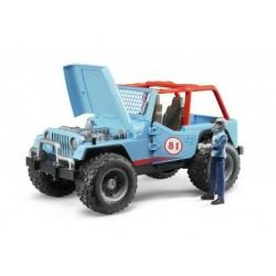 Zabawka Jeep Cross-country niebieski + figurka