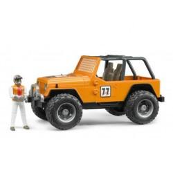 Zabawka Jeep Cross-country pomarańczowy + figurka