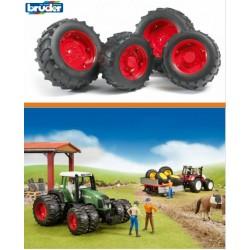 Zabawka koła bliźniacze czerwone do modeli-03