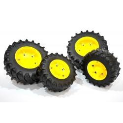 Zabawka koła bliźniacze żółte JD do modeli-03
