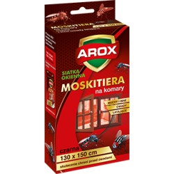 Moskitiera 130*150 czarna + rzep Agrecol