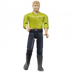Zabawka figurka mężczyzna-blondyn w ciem.dżinsach