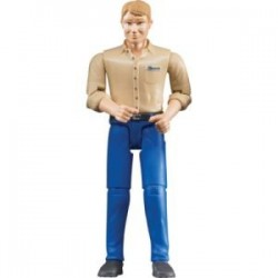 Zabawka figurka mężczyzna-blondyn w jasn.dżinsach