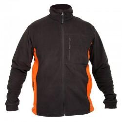 Bluza polar męska czarno-pomarańczowa 2XL Lahti