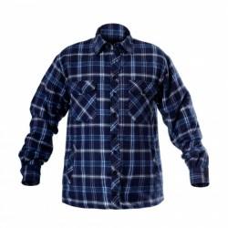 Koszula flanelowa ocieplana niebieska rozm 2XL Lah