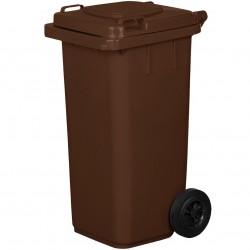 Pojemnik plastikowy na śmieci 120l. brązowy