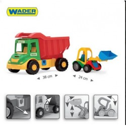 Zabawka Multi Truck ze spychem Buggy /Wader/
