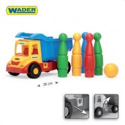 Zabawka Multi Truck wywrotka + kręgle /Wader/