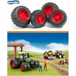 Zabawka koła bliźniacze czerwone do modeli-02