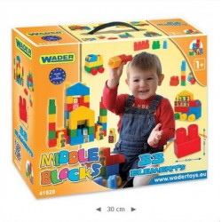 Zabawka klocki Middle Blocks 33-el /Wader/