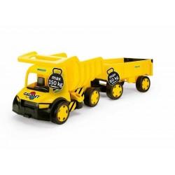 Zabawka Gigant wywrotka z przyczepą żółta /Wader/