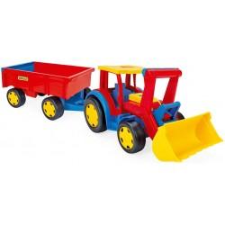 Zabawka Gigant traktor z łyżką i przyczepą /Wader/