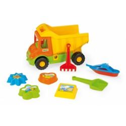 Zabawka Multi Truck wywrotka+7-el do pias. /Wader/