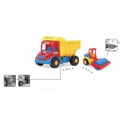 Zabawka Multi Truck wywarotka + walec /Wader/