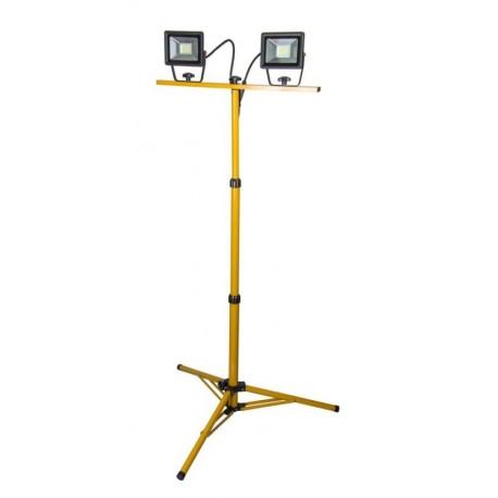 Lampa warsztatowa 2*20W LED na statywie