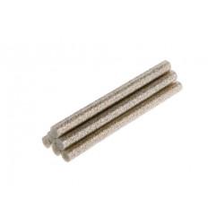 Wkłady klejowe 11mm. 6szt. brokatowe srebrne Topex